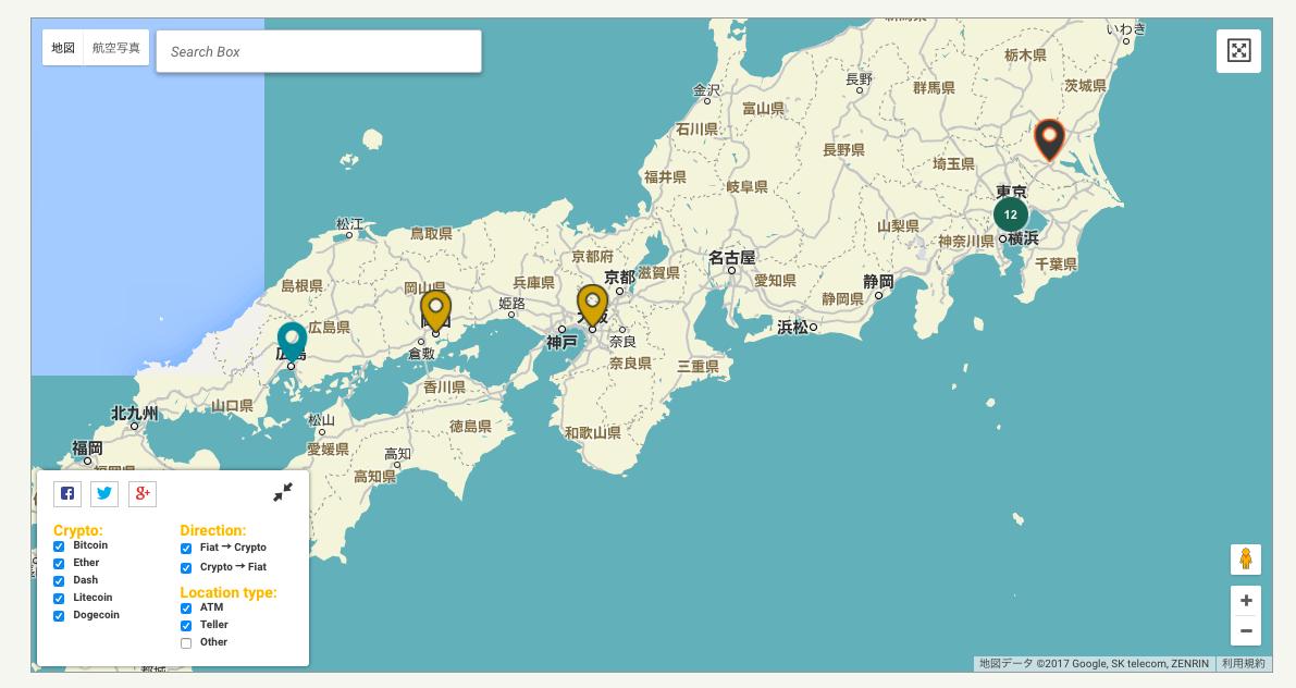 日本のビットコインATM